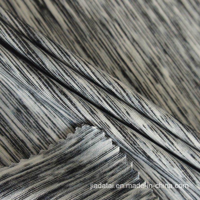 Mistura de licra Melange Heather Quick Dry cinza único tecido Jersey