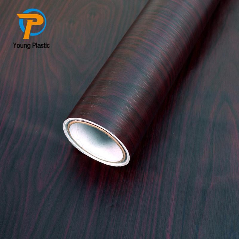 Pellicola della mobilia del PVC impressa impiallacciatura di legno impermeabile decorativa di funzione