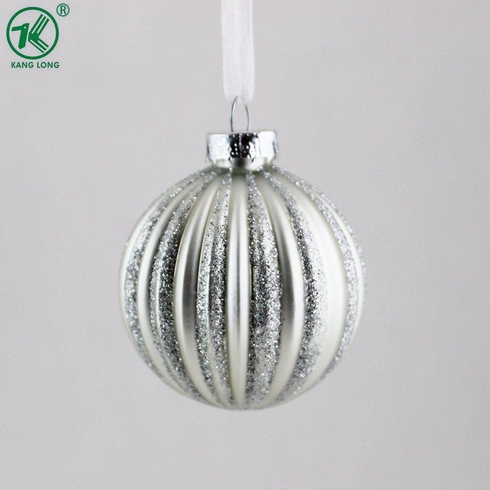 6cm 크리스마스 유리제 공은 장신구를 만든다