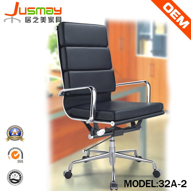 Sedia da ufficio calda moderna sedia in pelle in metallo