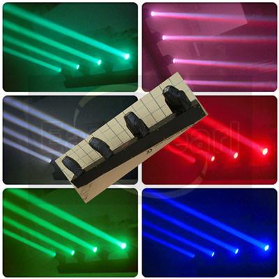 Haz de luces LED de 4 colores de la barra de Mini moviendo la cabeza/LED Iluminación de escenarios de iluminación/DJ