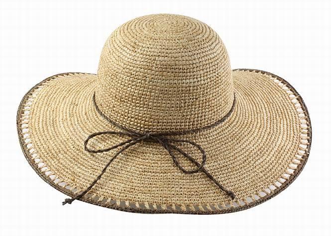 La rafia de ganchillo sombrero de paja – La rafia de ganchillo ...