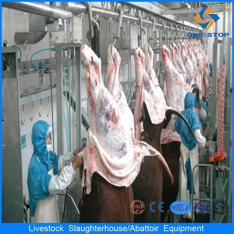 El sacrificio de ganado de la línea de equipos de la máquina de mataderos