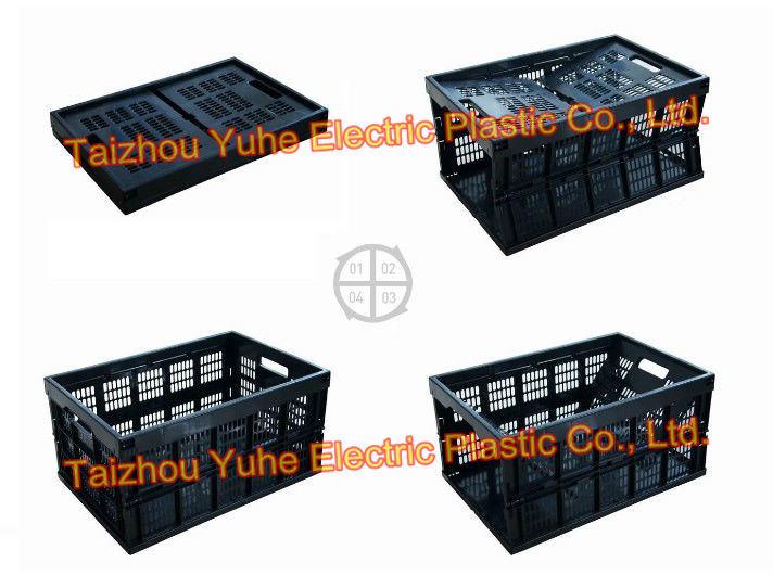 Zusammenklappbare faltbare gefaltete Plastikkiste (YHX-035)