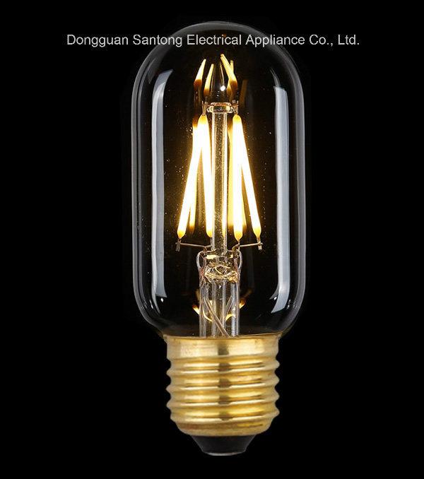Distributeur du tube T45 Lampe à incandescence LED lumière Edison homologué UL
