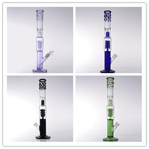 DF1029 vijf kleuren recht vorm veer recycler glas Roken water Leiding