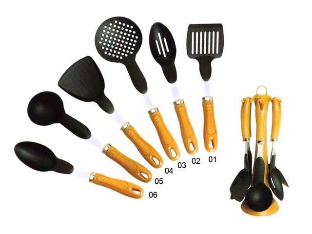7Pc-set der Küche bearbeitet w/Stand (KTS750-1)