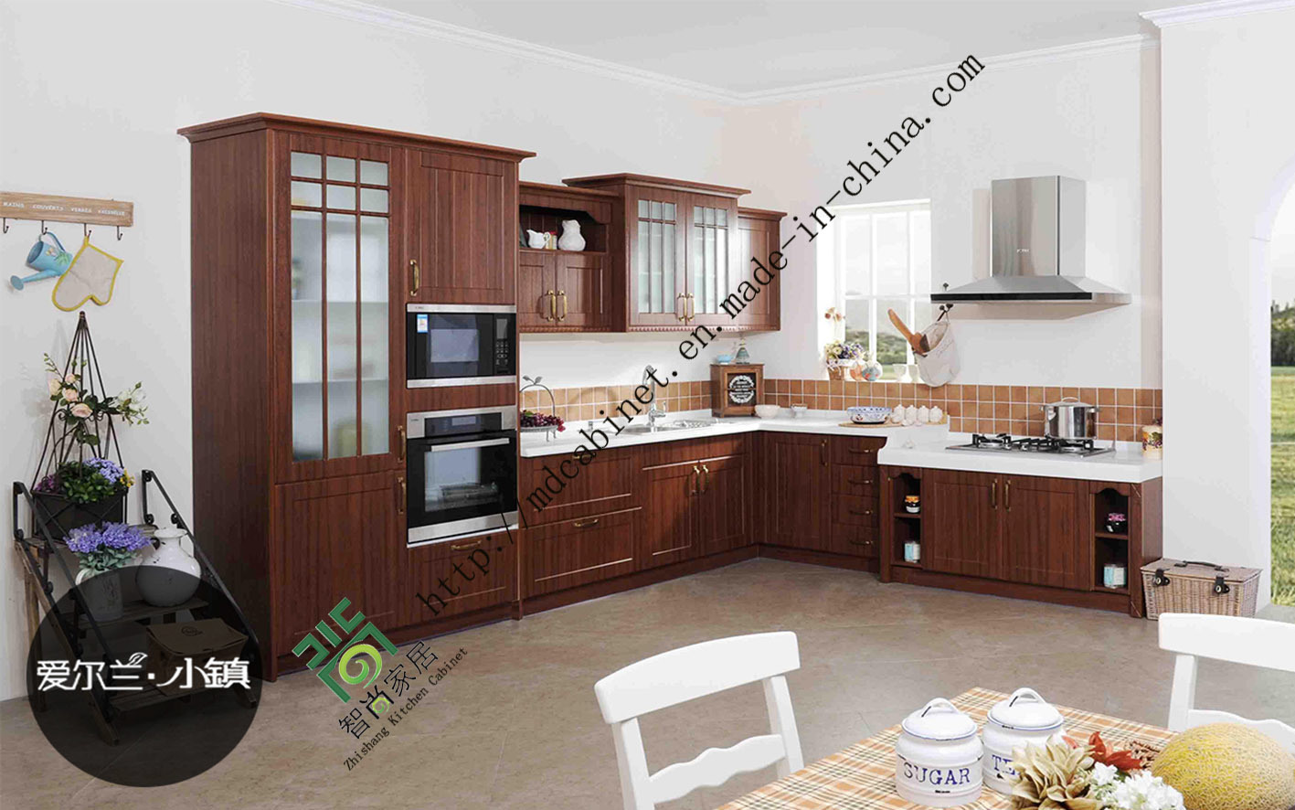 2015 de PVC modernos gabinetes de cocina con muebles de diseño están ajustadas (ZS-239)