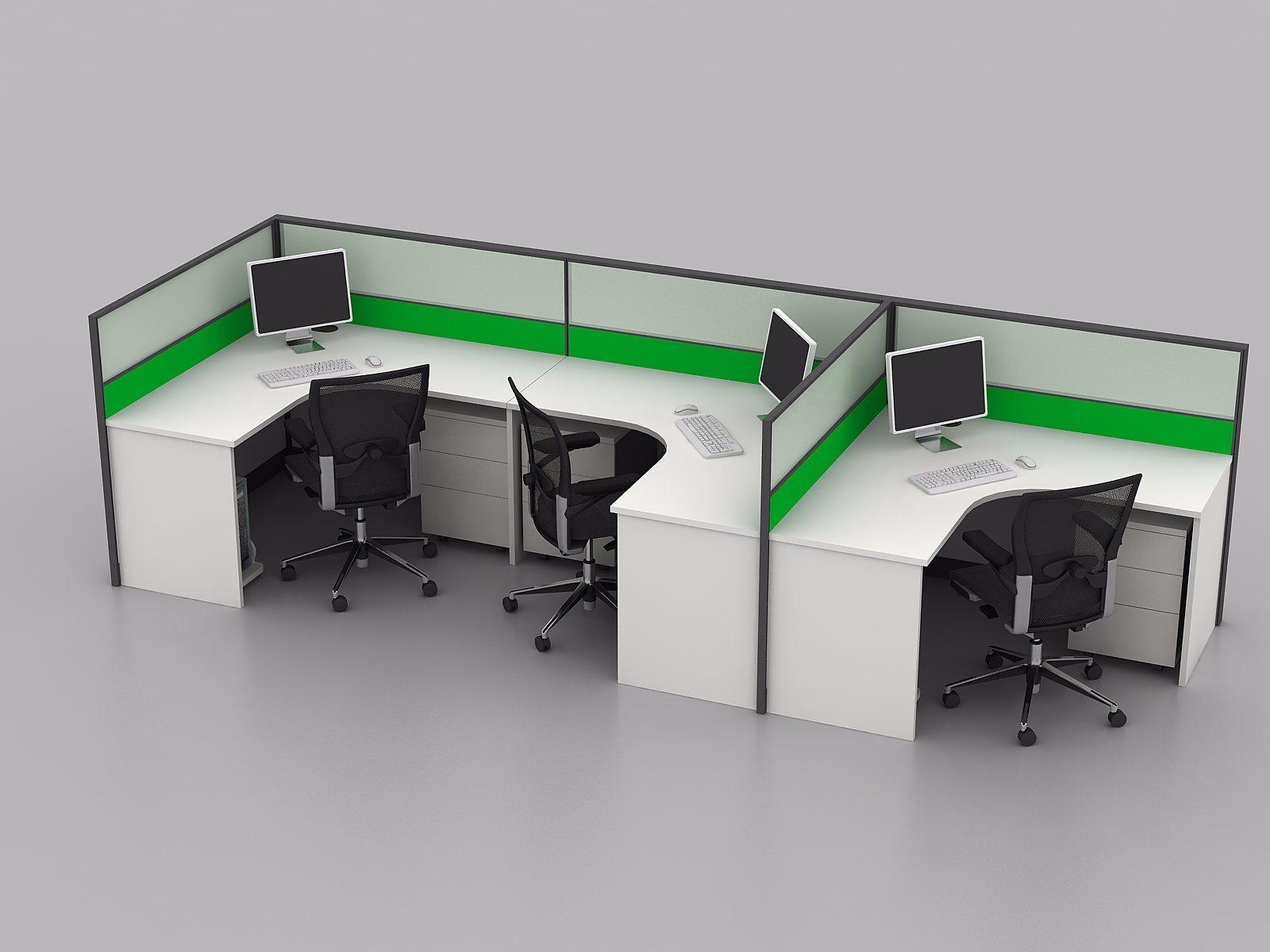 Moderner Typischer Modulare Möbel Geöffneter Büro Arbeitsplatz Schreibtisch  (SZ WS335)