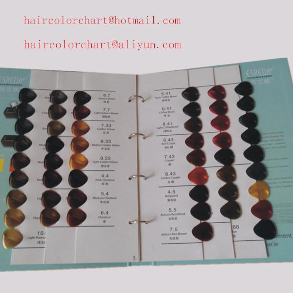 Catalogue de couleur de cheveux
