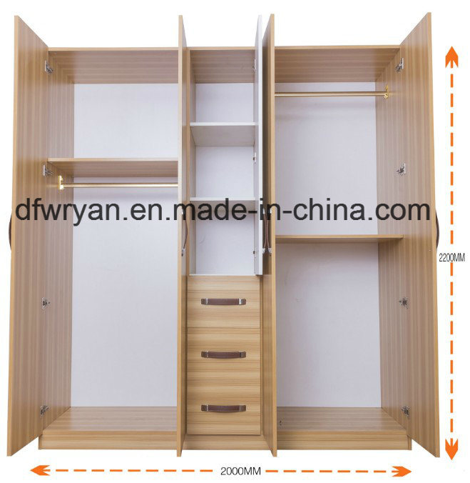 Style africain E2 Chambre à coucher Mobilier armoire avec miroir ...