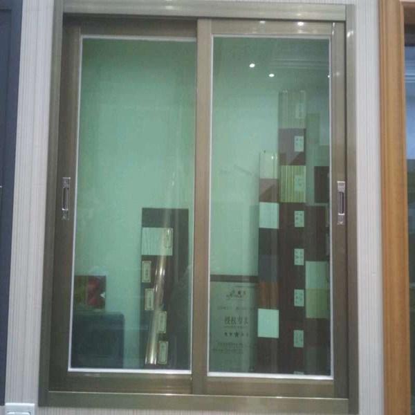 ventanas corredizas de aluminio color champagne de