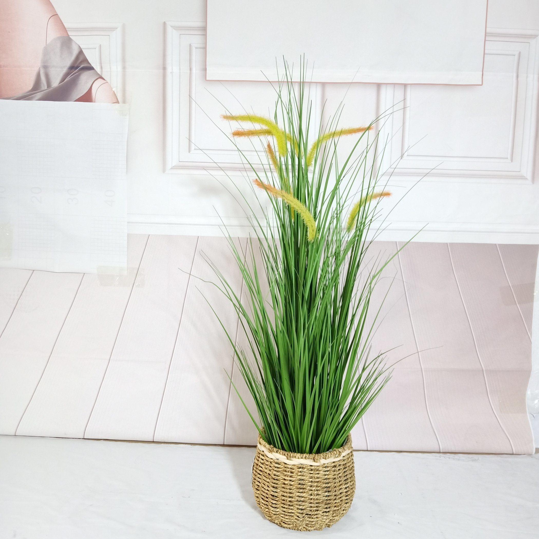 Factory Outlet Simulation en plastique décoratifs oignon de l'herbe artificielle Bonsai