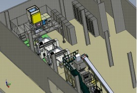 doppelte Seifen-Fertigstellungs-Zeile Lay-out der Farben-1000kg