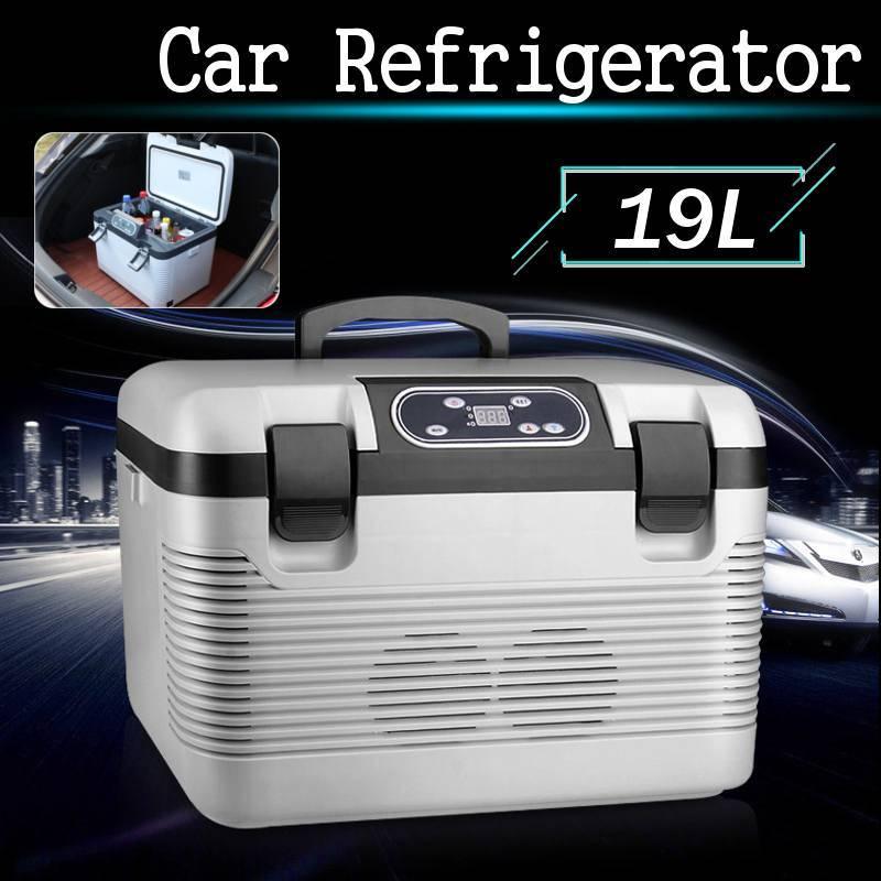 V12-24DC/AC220V Car Geladeira Congelar aquecimento 19L Frigorífico Compressor para aluguer de casa de refrigeração piquenique aquecimento -5~65 Graus