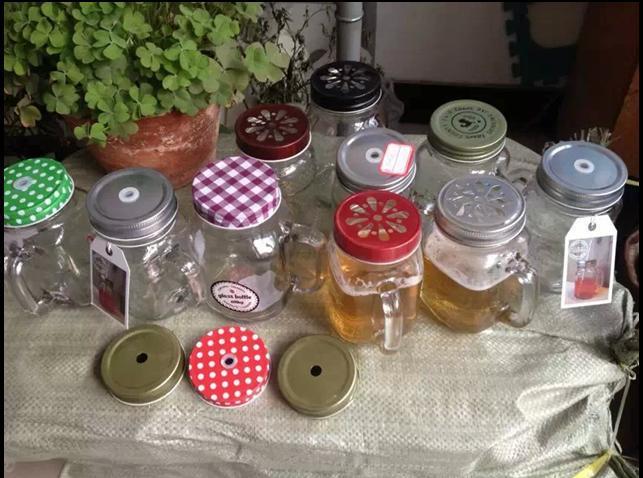 450mlnew York Jar/bouteille de jus jus