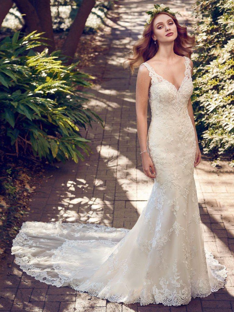 Strand-Brautkleid-Sleeveless Spitze-Nixe-Hochzeits-Kleid Ld17 foto