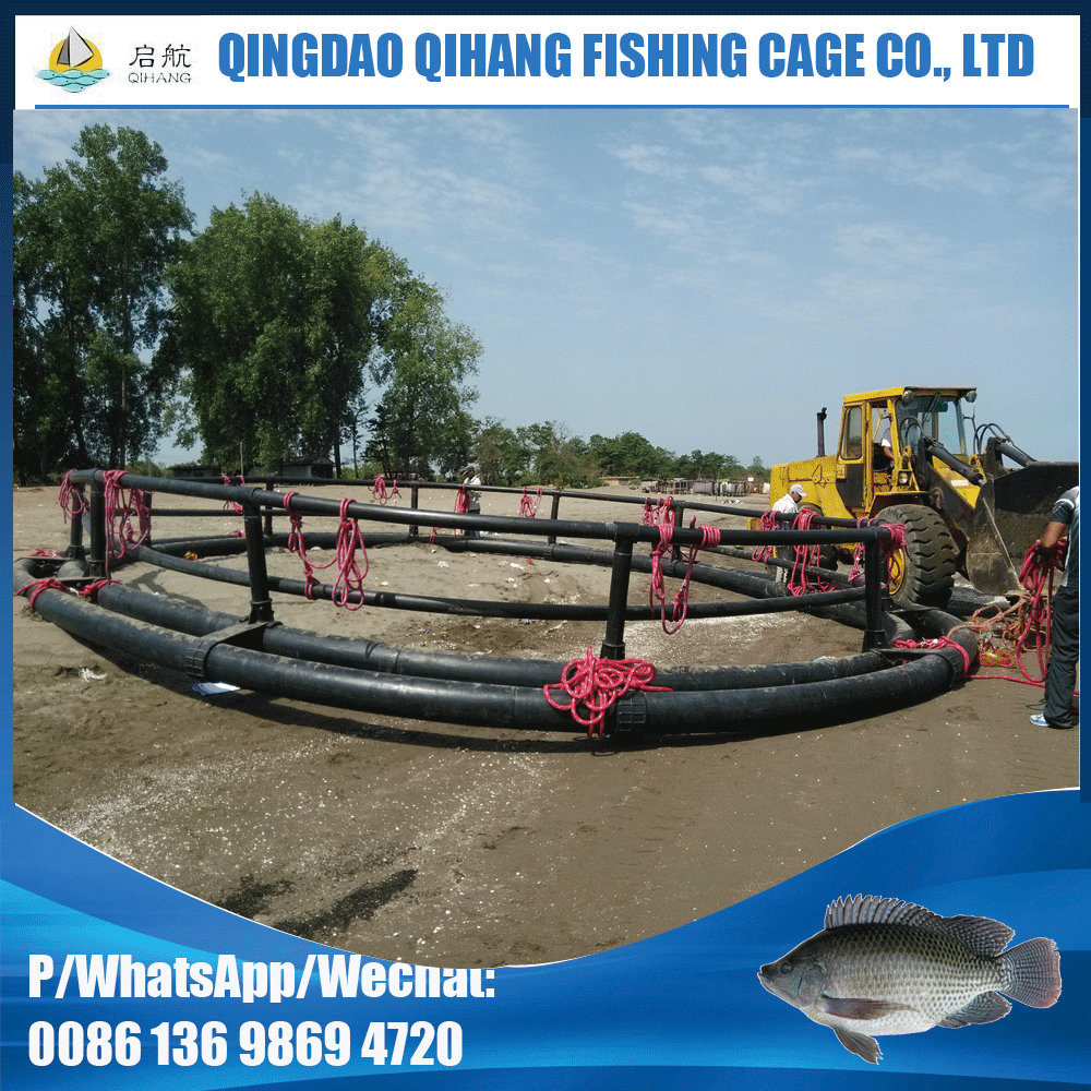 Gaiola líquida da piscicultura de Qihang com o saco líquido sem nós
