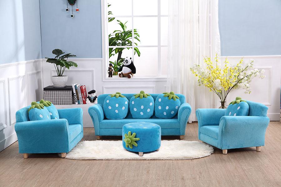 Foto de Muebles de sala de tejido de terciopelo de Coral otomano ...