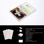 Leggyhorse5 x 7 дюймов гибкие прозрачным акриловым рамка для фотографий, с Волшебной модуля. Съемная кадры с легкостью изменить форму, белого или черного цвета, комплект из 4 рамы