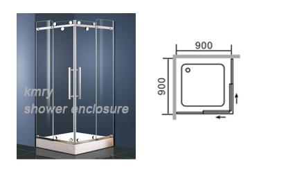 Receptáculo de ducha de acero inoxidable cuadrada (KT5147)