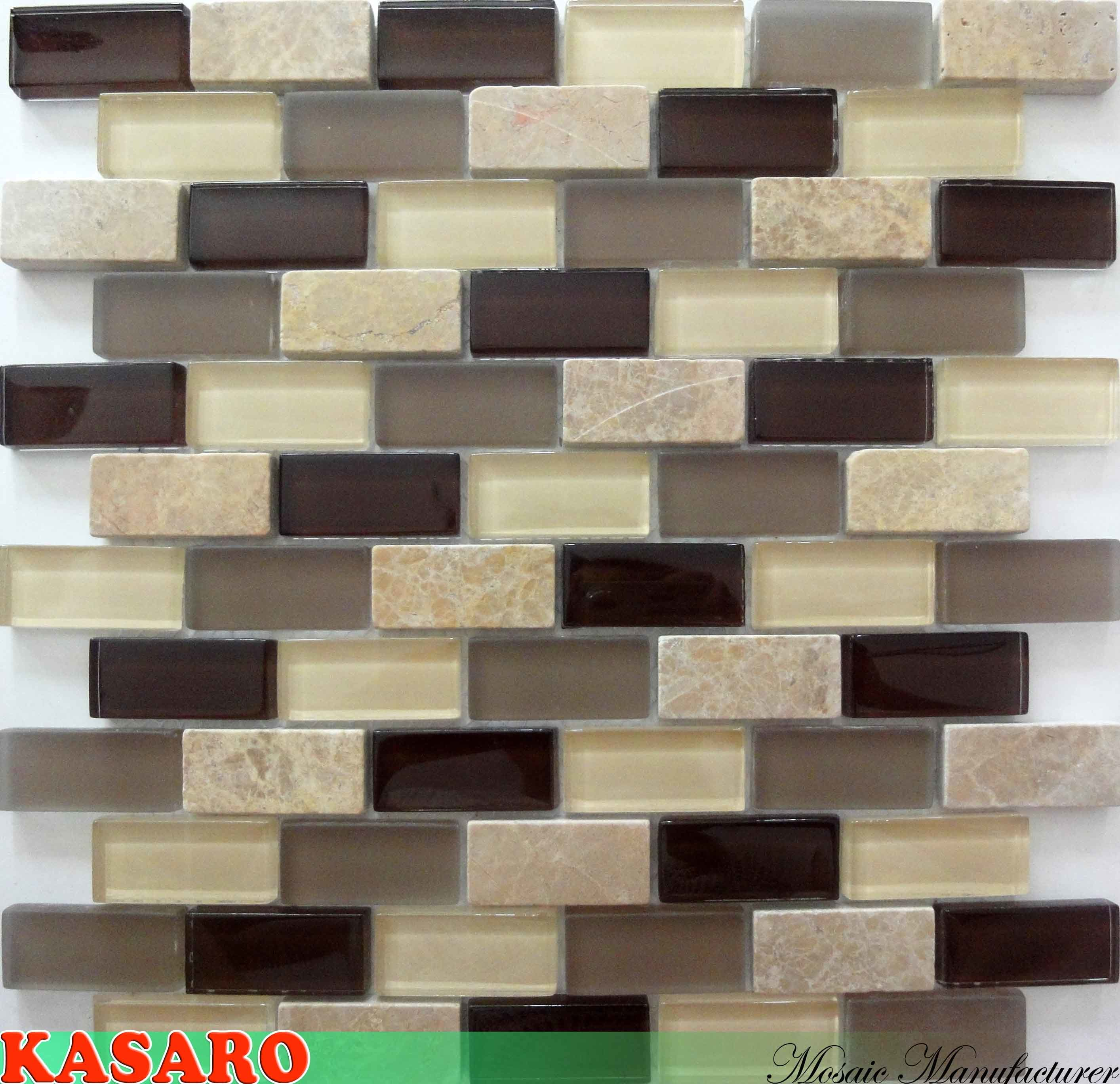 Mosaico de azulejos de cocina de metro (KSL135019) – Mosaico de ...