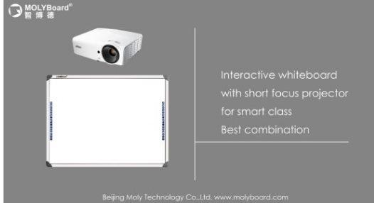 Quadro branco interativo óptico com 2 pontos para estudo