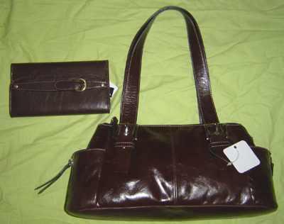 Дамскую сумочку из натуральной кожи