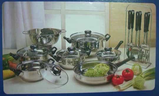 19 de Reeks van Cookware van het Roestvrij staal van PCs