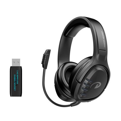Dl son casque de jeu sans fil 2.4G casque audio pour ordinateur de l'interrupteur PS4 XBOX