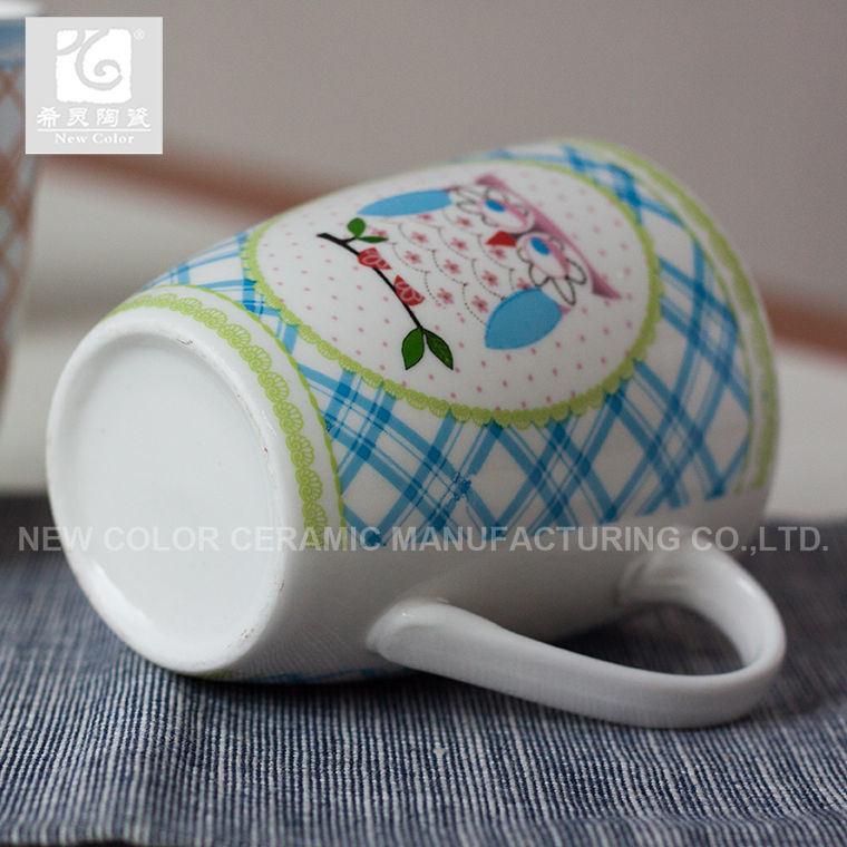세라믹 컵 창조적인 디자인을 인쇄하는 승진 중국 공장 전사술