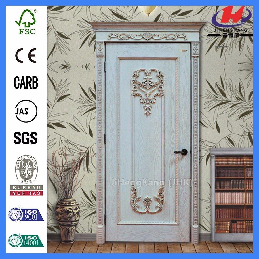 Foto de Marco de la puerta de madera tallada en madera maciza ...