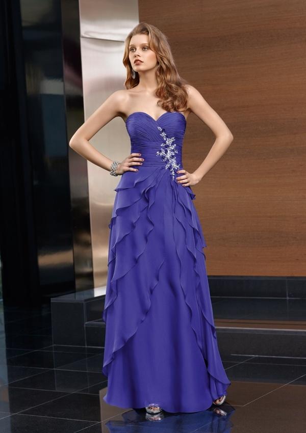 Vistoso Azul De Té Vestidos De Dama De Longitud Modelo - Vestido de ...
