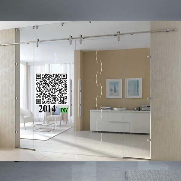 Cristal moderno puertas correderas vidrio fijaci n o instalaci n de montaje en pared cristal - Puertas correderas vidrio ...