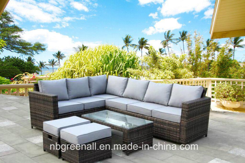 Foto de Patio exterior esquina multifunción Sofá Jardín conjuntos de ...