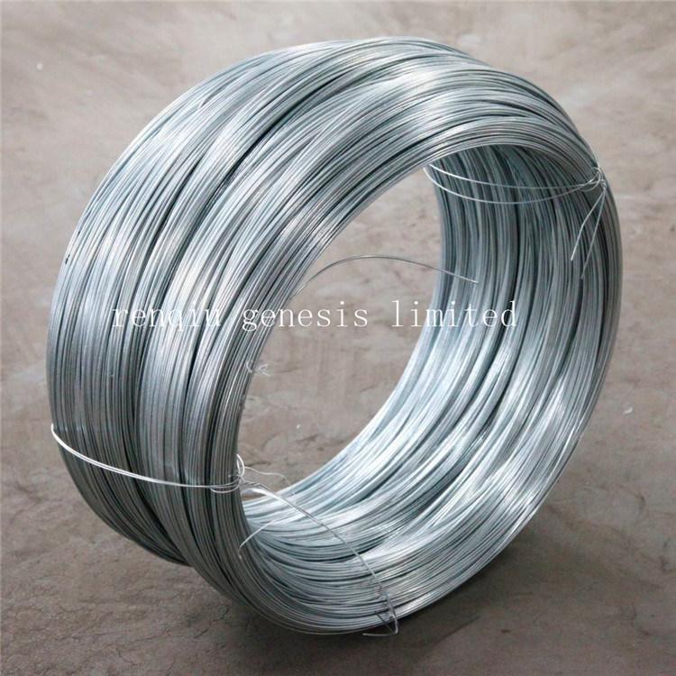 Горячий DIP оцинкованной стали провод используется для стального троса
