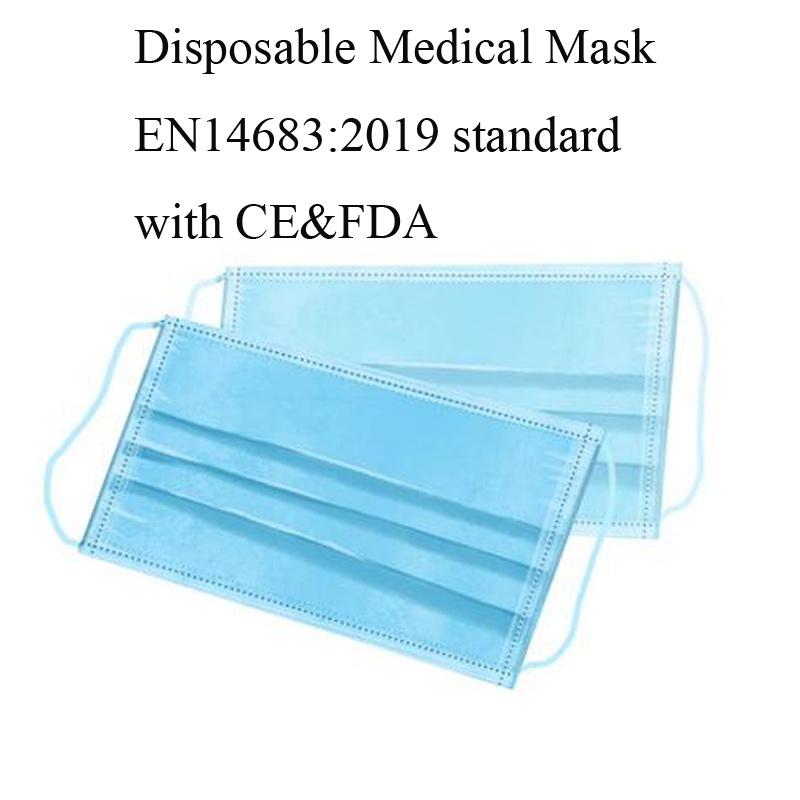 Beste prijs wegwerpbaar 3-laags niet-geweven beschermend gezichtsmasker oorhaakje