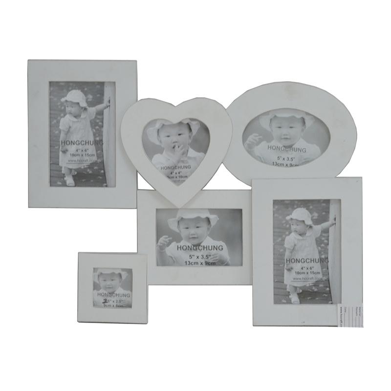 Foto de Collage en blanco el marco de fotos de madera para el hogar ...
