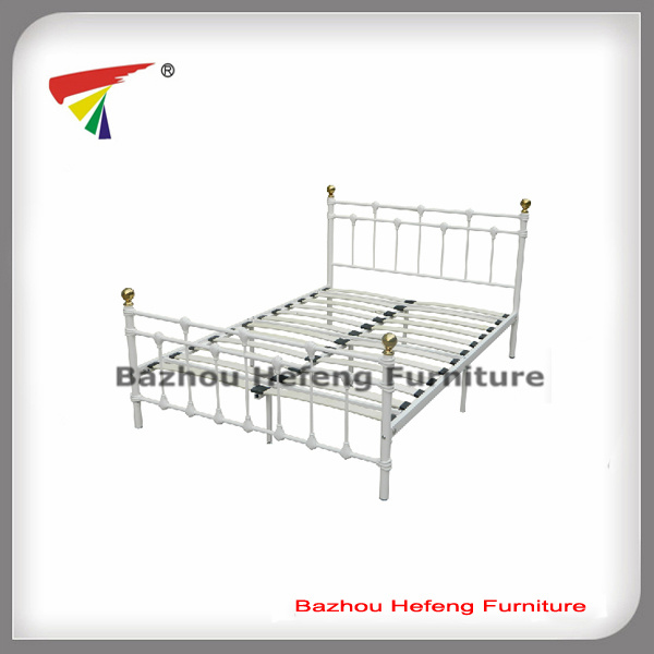 Europen listones de madera de estilo Metal marco de la cama doble ...