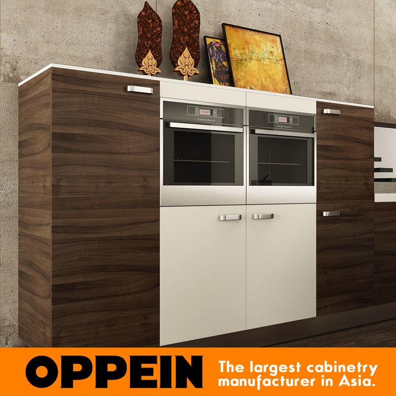 Grano modernos de madera armarios de cocina de MDF (OP15-PP03 ...