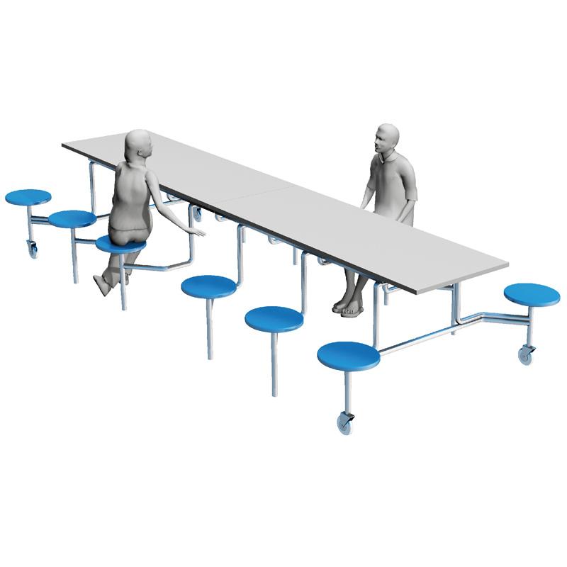 Mesa de comedor Muebles de comedores escolares con 12 asientos ...