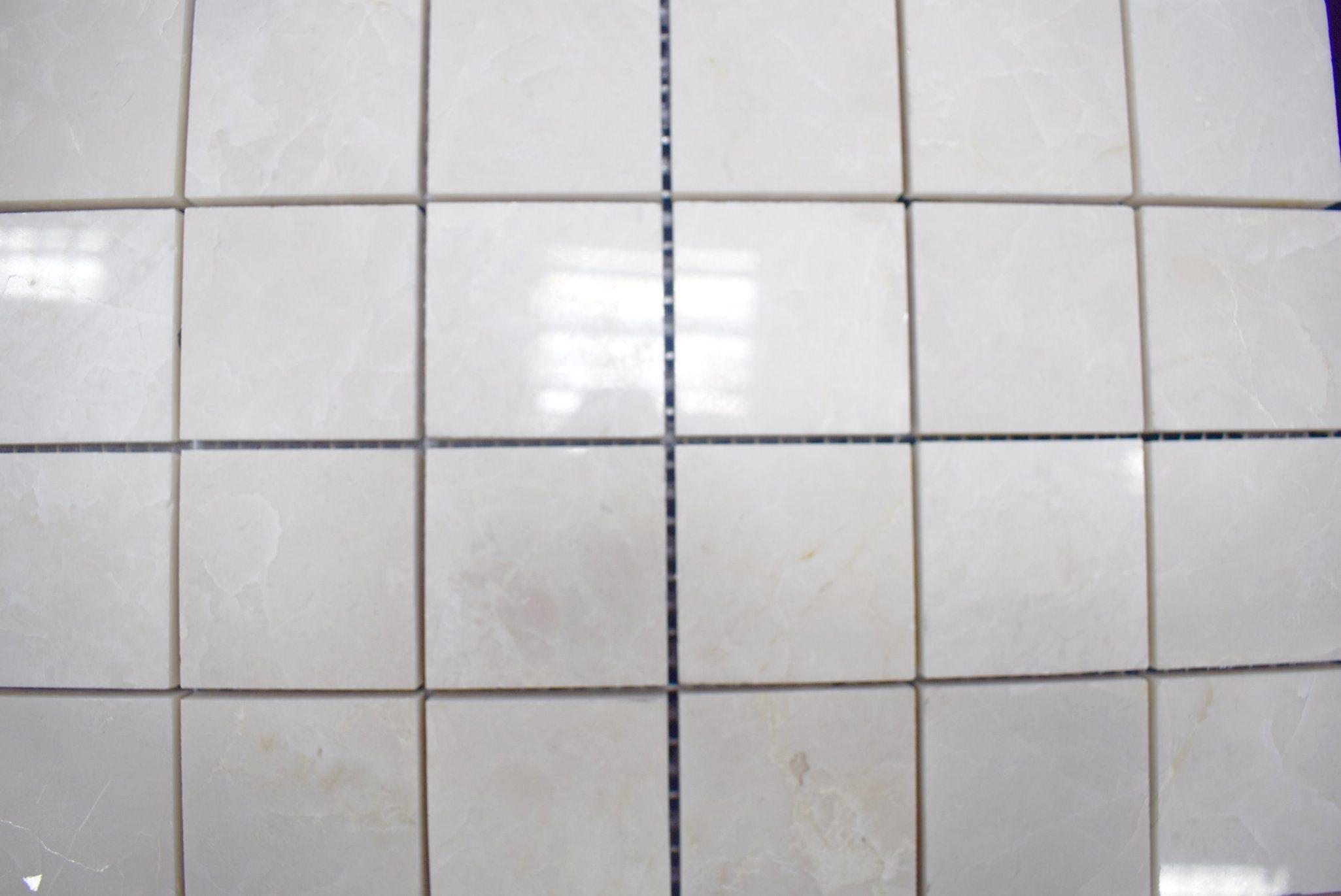 Della fabbrica mattonelle di mosaico di marmo quadrate polished