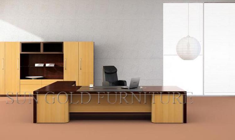 Bureau en bois massif vernis classique de meubles de bureau table
