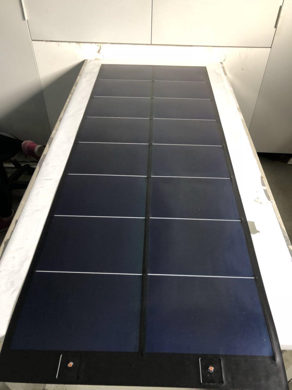 Cellule Photovoltaïque En Silicium Amorphe destiné 105w au silicium amorphe thin film flexible panneau solaire