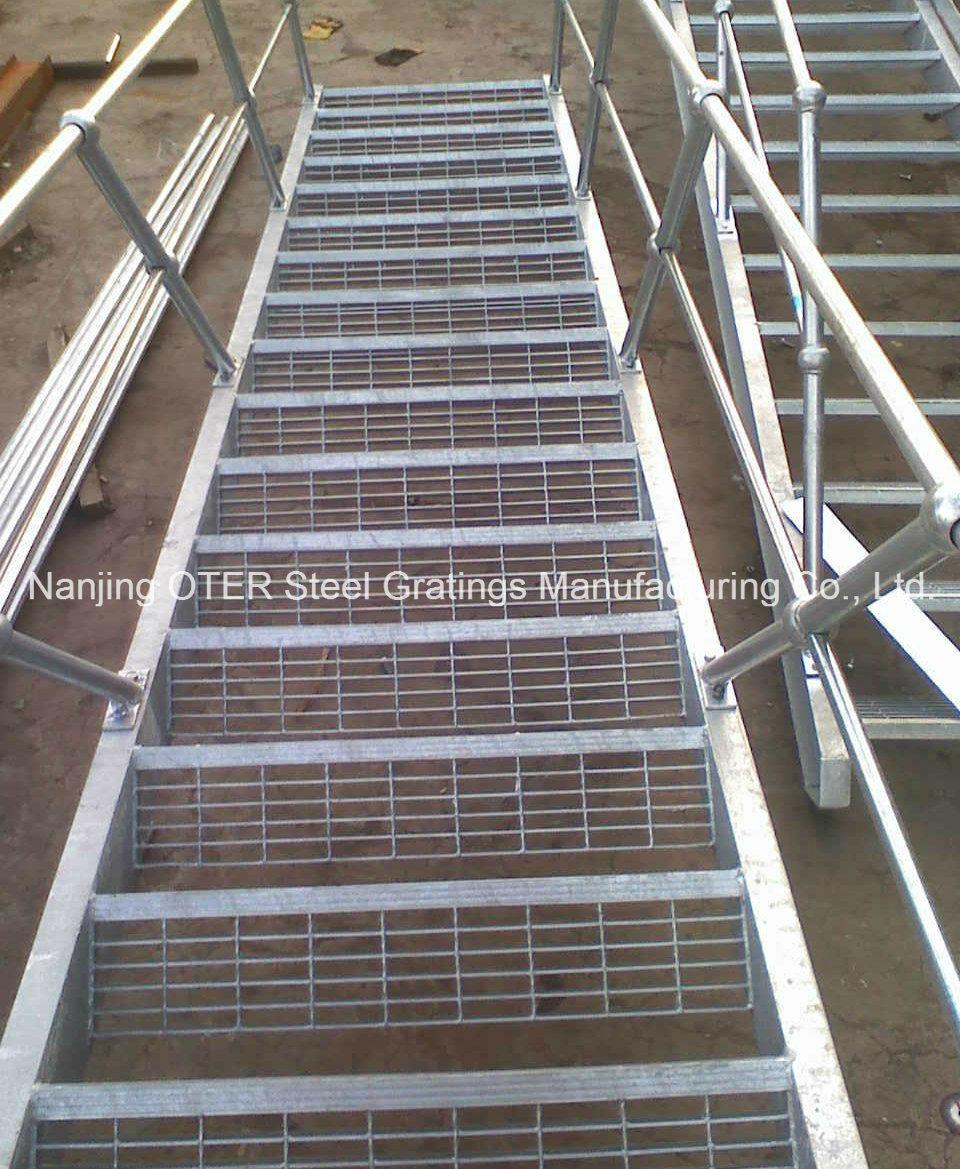 Escalier En Caillebotis Métallique pour caillebotis en acier escalier avec main courante –caillebotis en