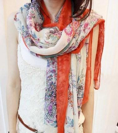 2013 Fashion шарфы, Voile шаль / шелковые шарфы (XH13001)