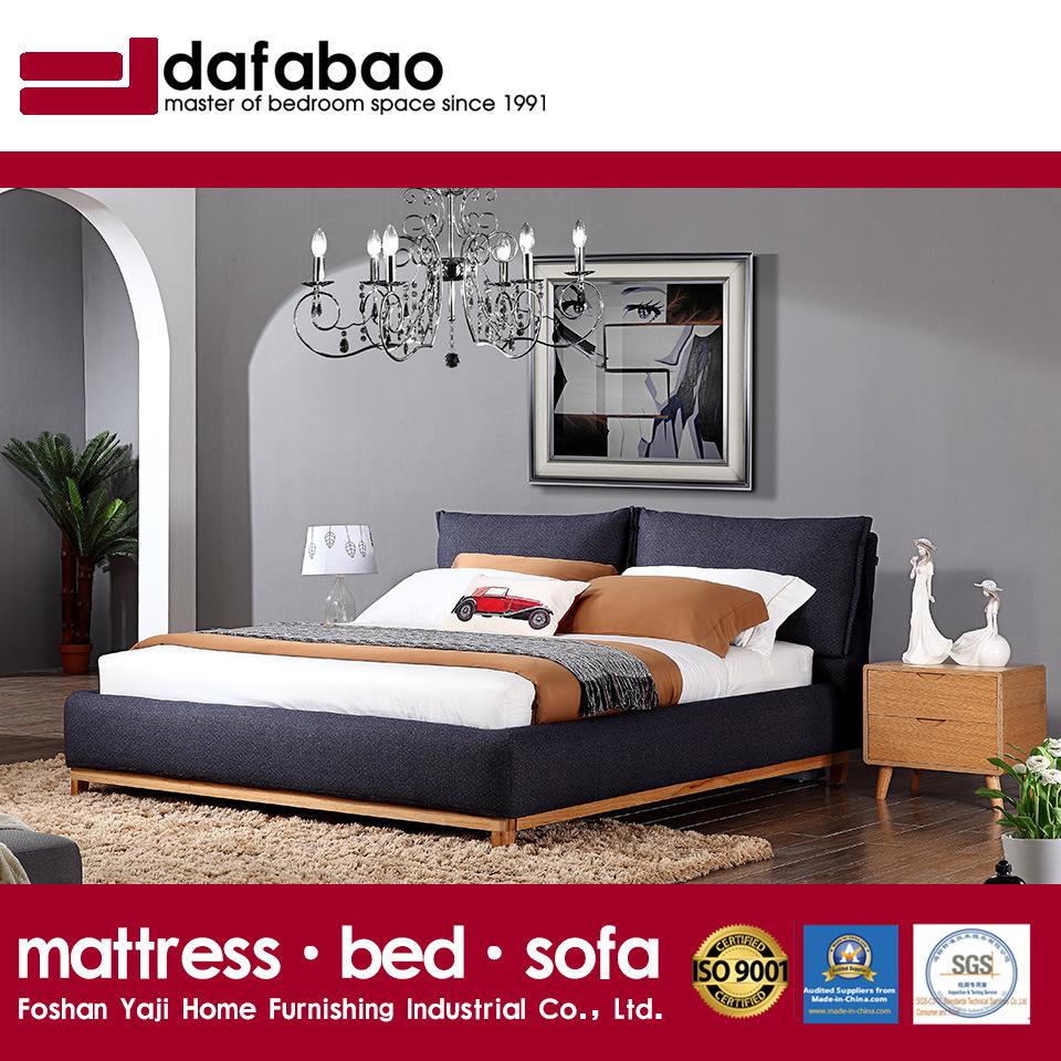 Het zwarte Bed van de Stof van de Kleur voor het Gebruik van de Slaapkamer (FB3076)