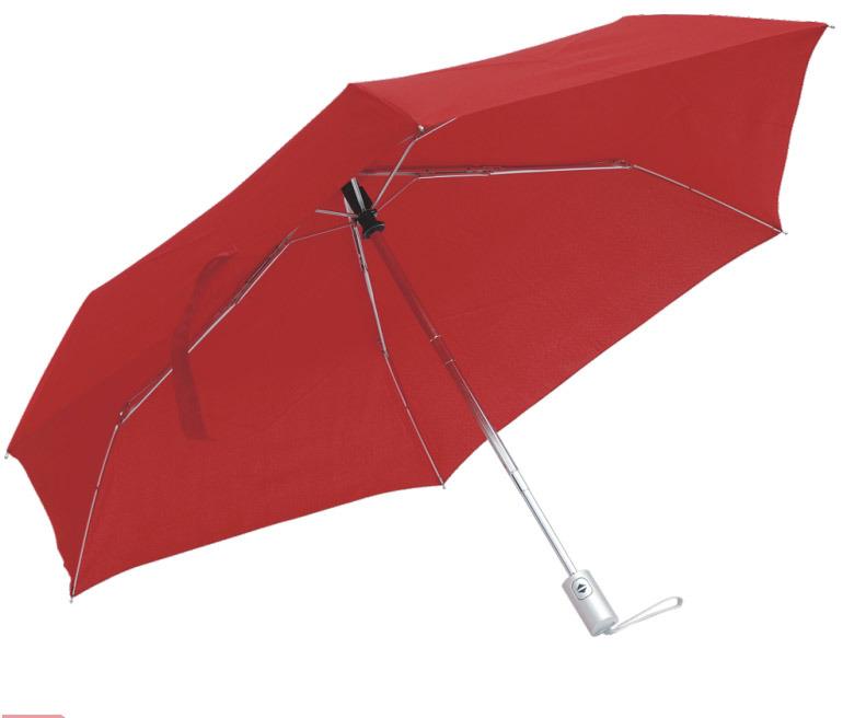 3개의 겹 빨강 우산
