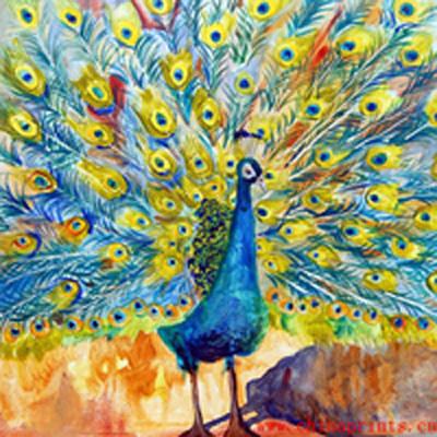 Peinture l 39 huile peinte la main de paon de qualit for Peinture de qualite