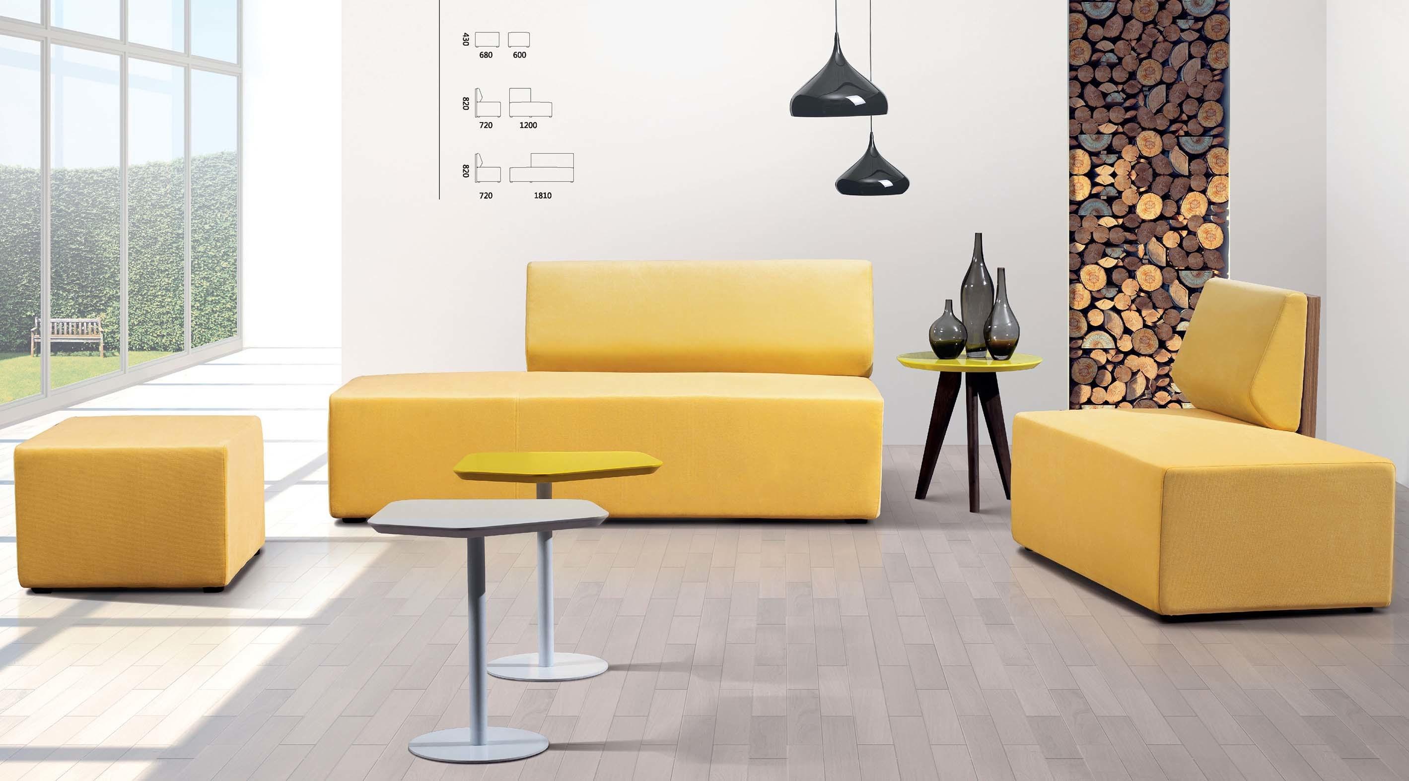 Muebles Modernos Sala De Espera Sofa De Oficina Con Mesa De Cafe - Muebles-modernos-de-sala
